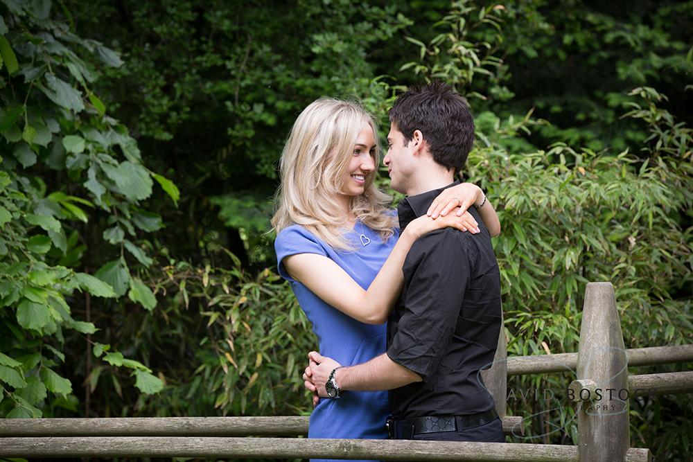 Le manoir engagement shoot couple embrace