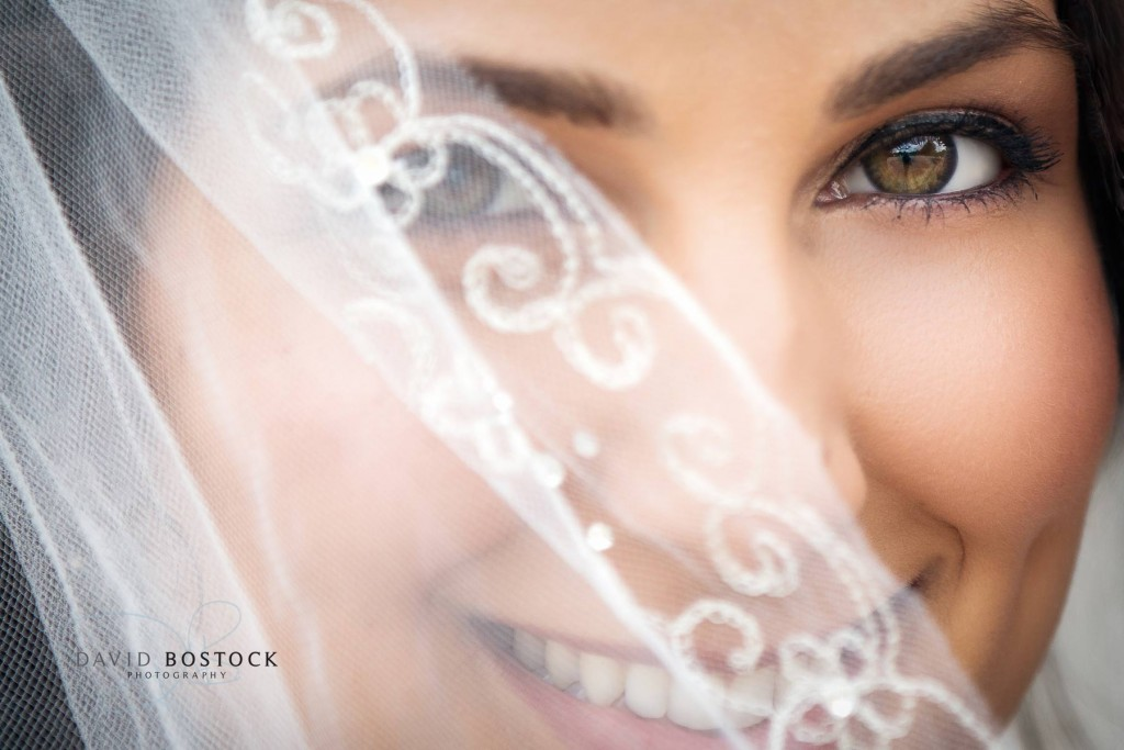 Persian wedding bride with beautiful eyes and veil
