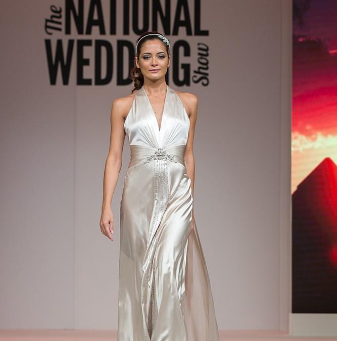 Ellie Sanderson Bridalwear catwalk scene | National Wedding Show Sept 2014