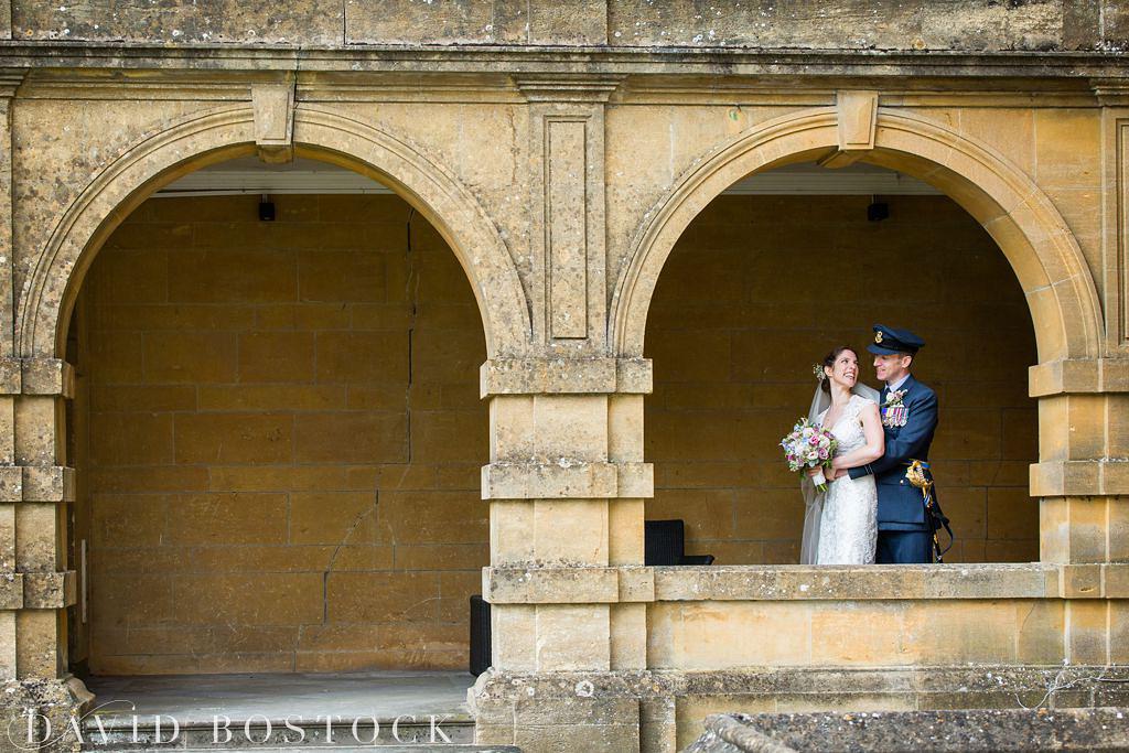 bride and groom at an Eynsham Hall wedding
