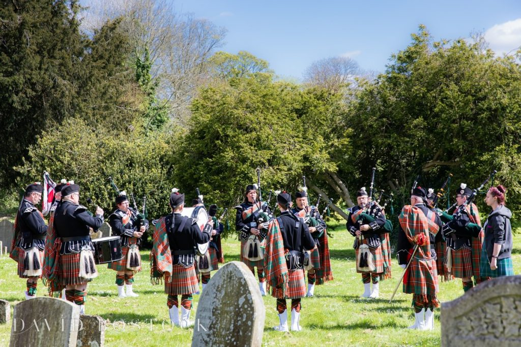 pipe band playing