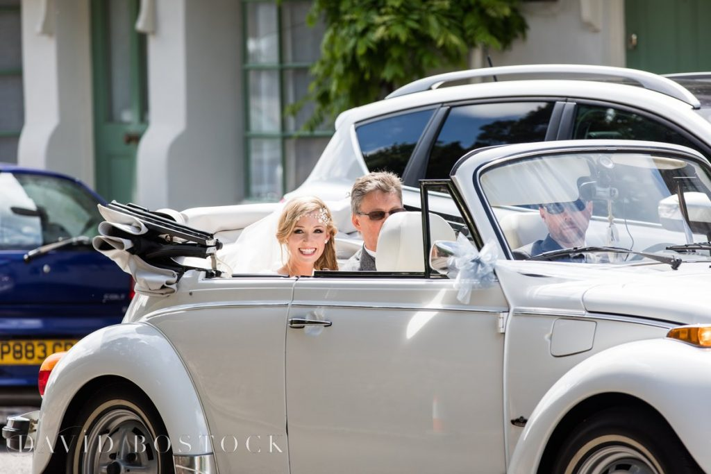 bride in convertible Beatle