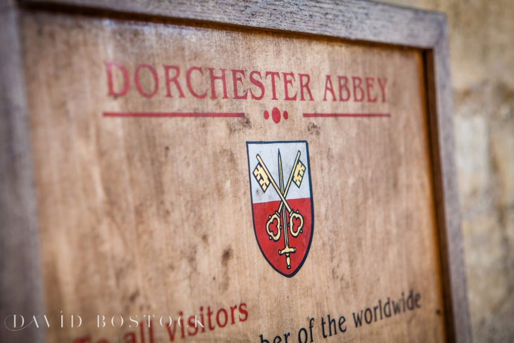 Dorchester abbey sign