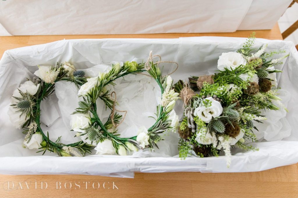 bouquet and headbands