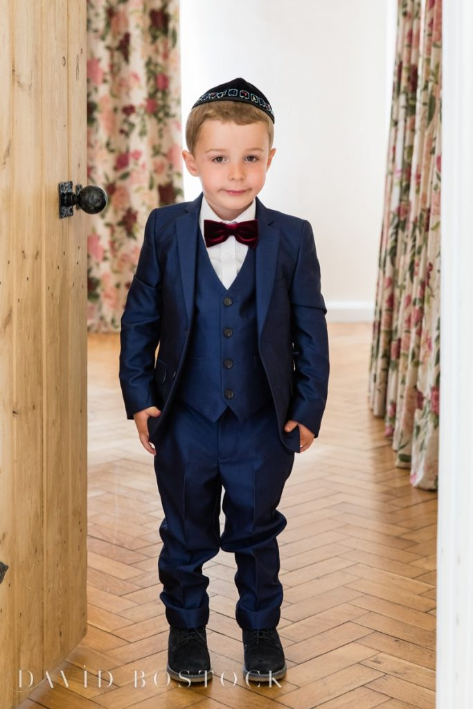 page boy in suit