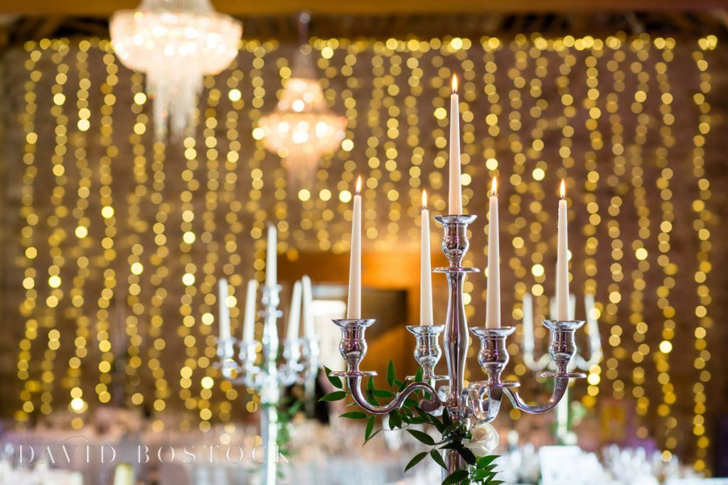 reception venue lighting