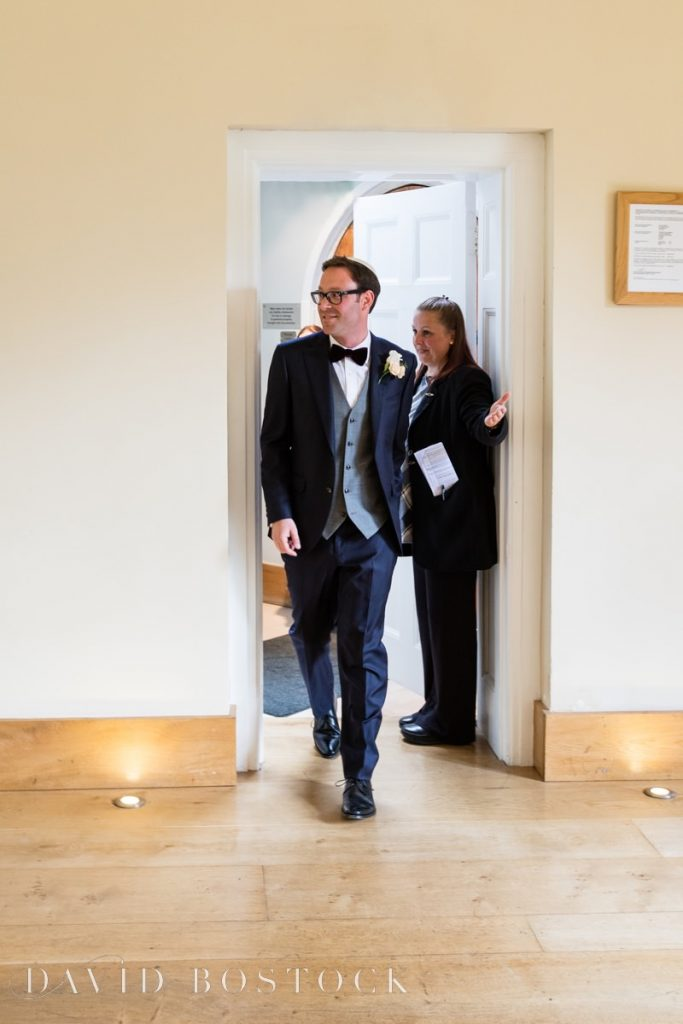 groom enters the badeken