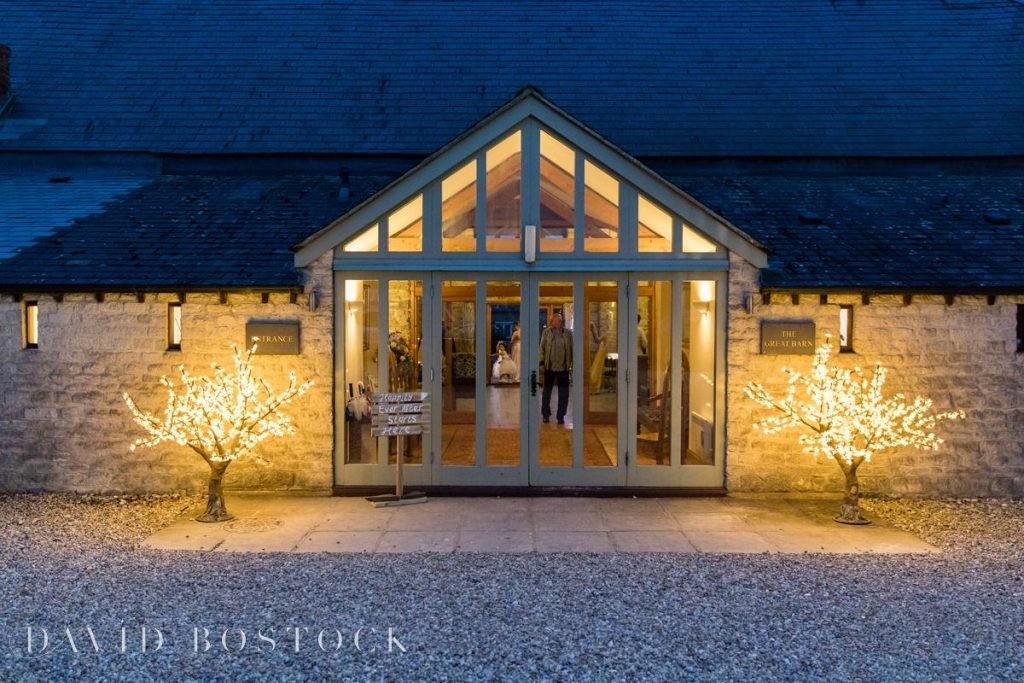The great barn aynho at night