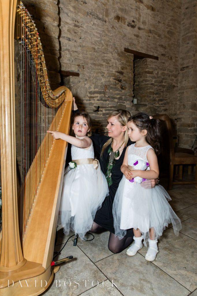 flowergirls learning harp