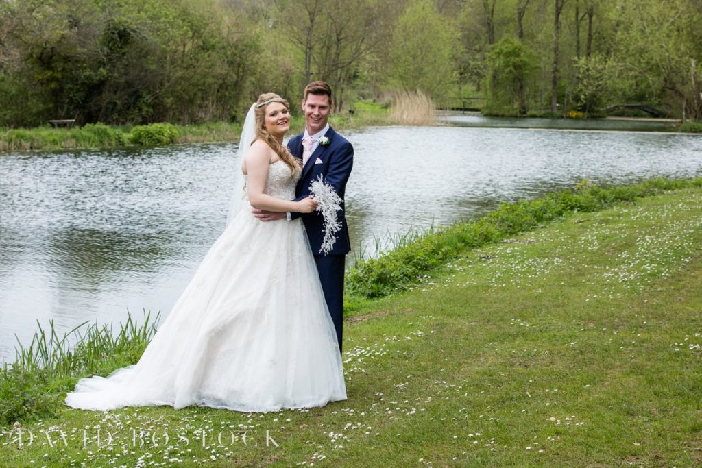 couple in front of lake