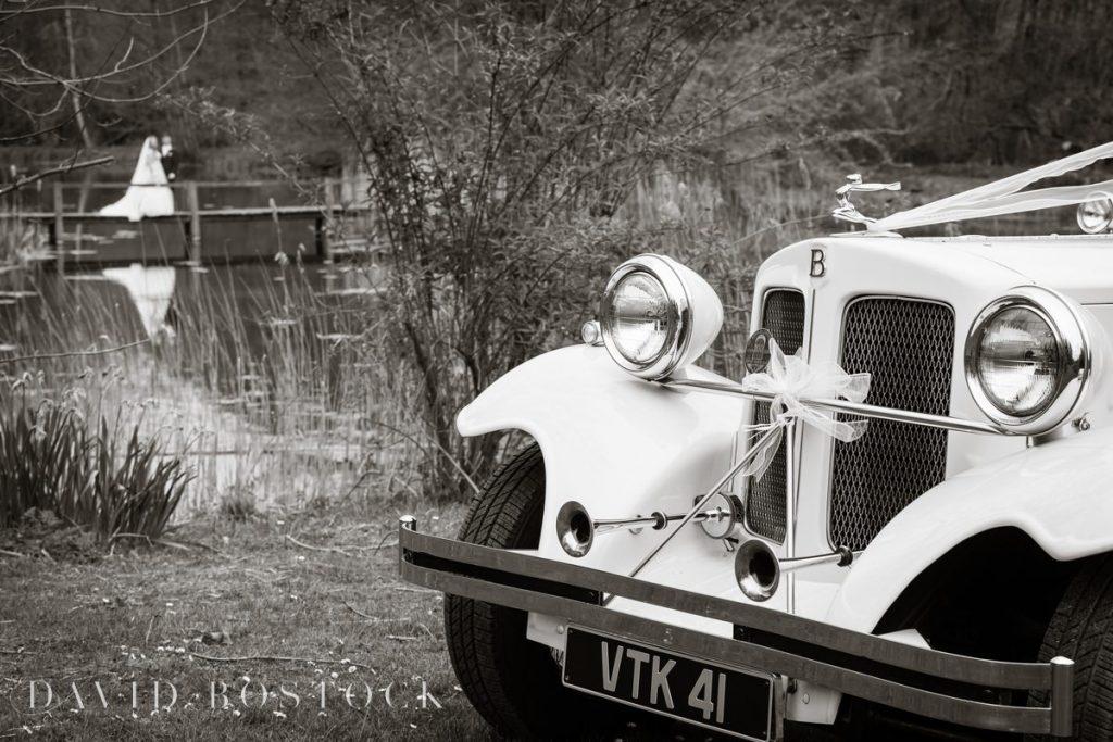 wedding car and couple