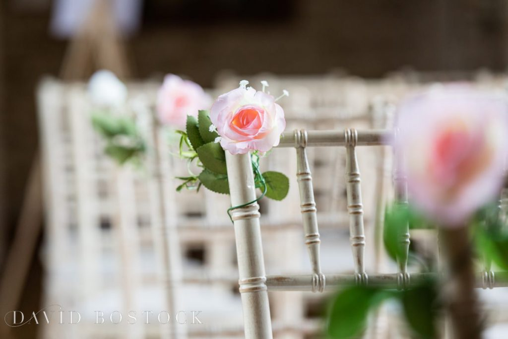 roses on chairs