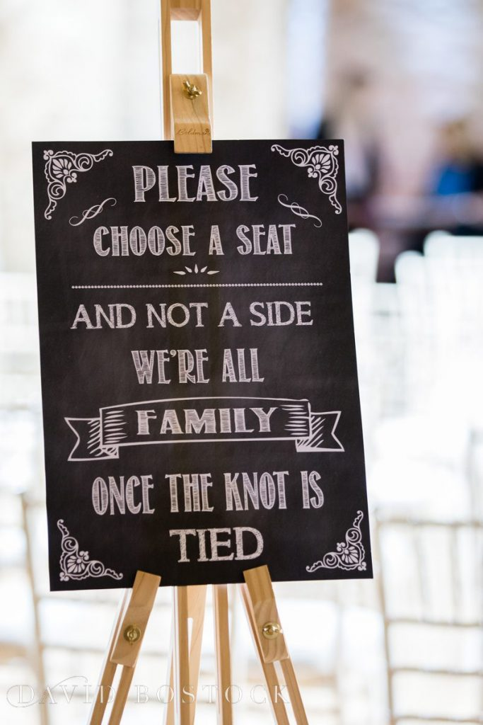 please choose a seat sign