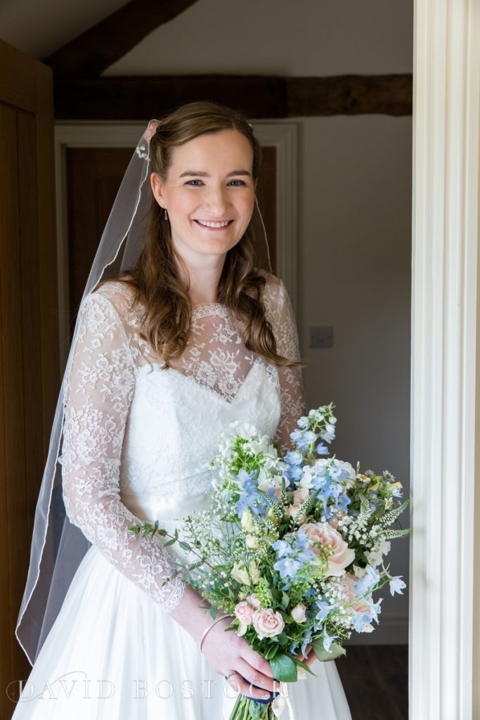 Caswell House Spring Wedding bride posing