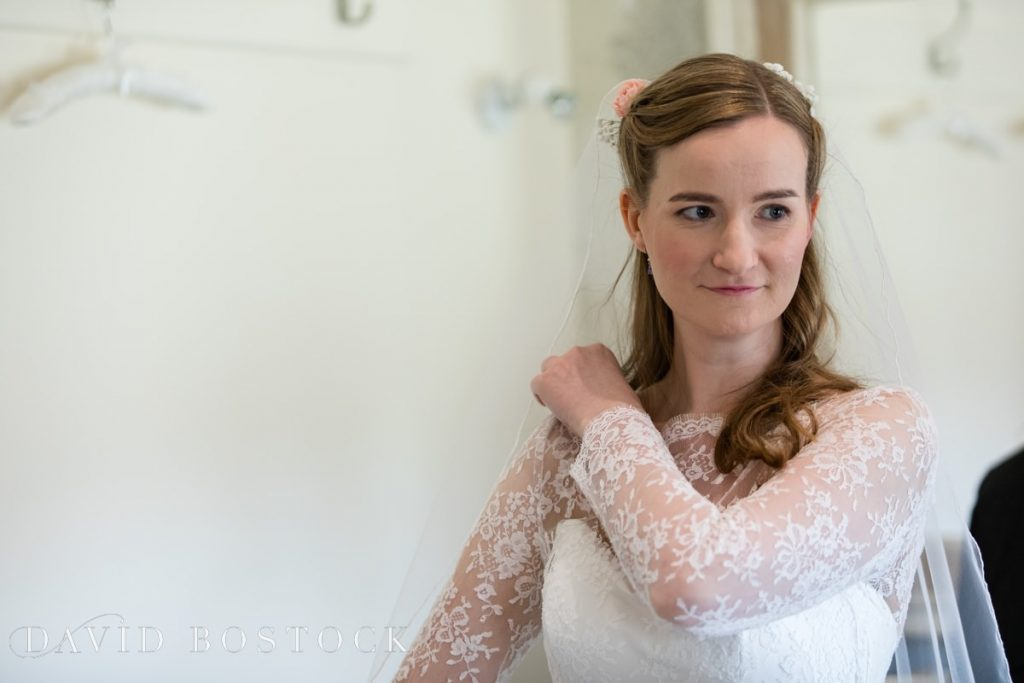 Caswell House Spring Wedding bride getting ready