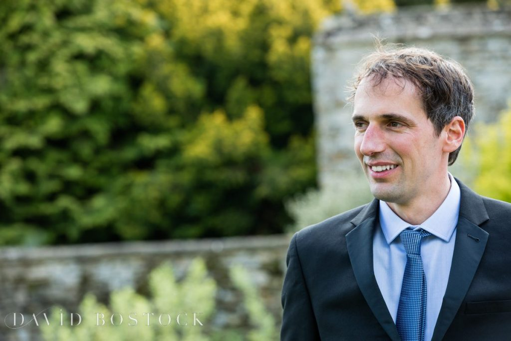 Caswell House Spring Wedding groom closeup