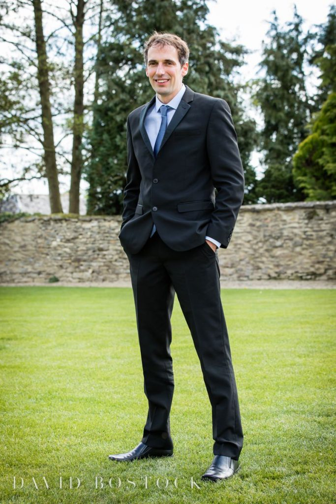 Caswell House Spring Wedding groom posing