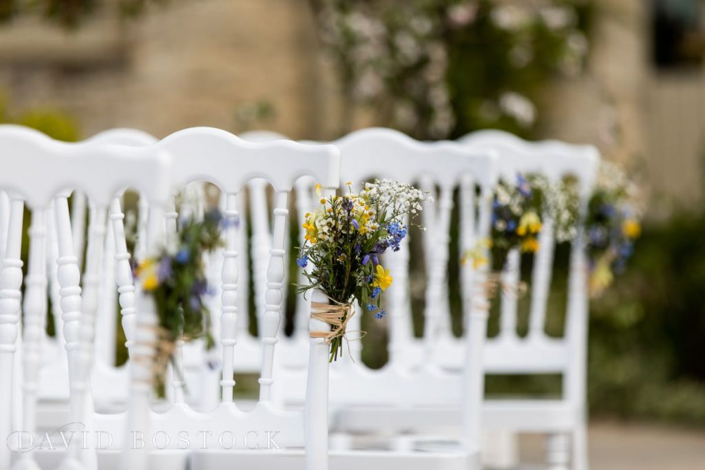 Caswell House Spring Wedding ceremony chairs