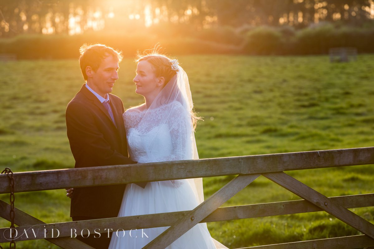 Caswell House Spring Wedding sunset shot