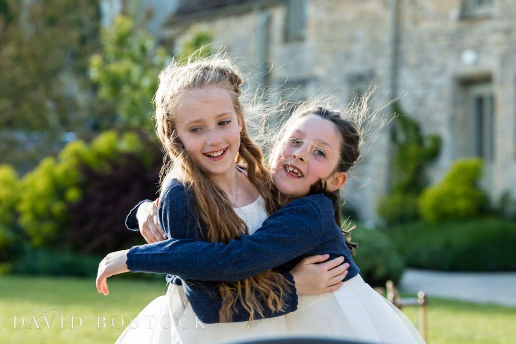 Caswell House Spring Wedding children playing