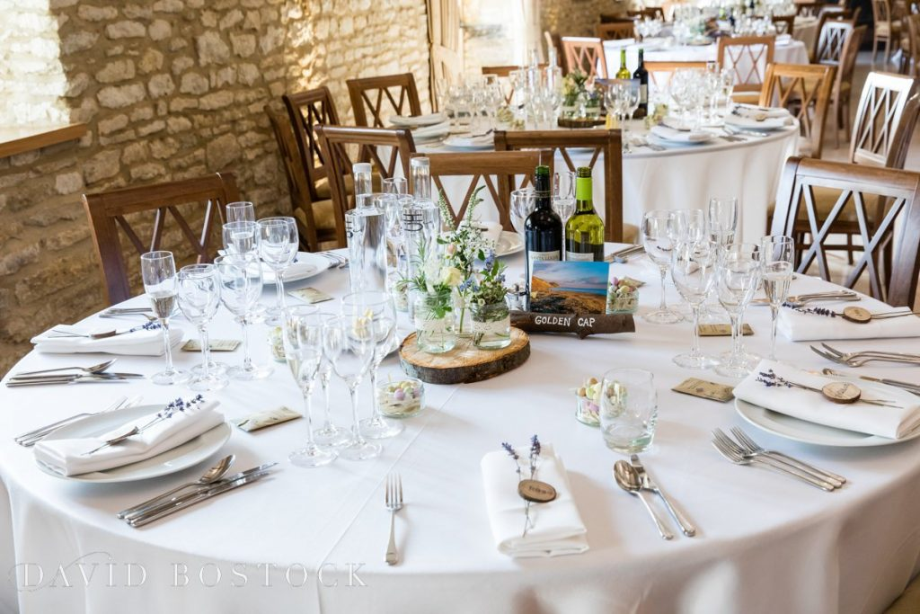 Caswell House Spring Wedding table decorations