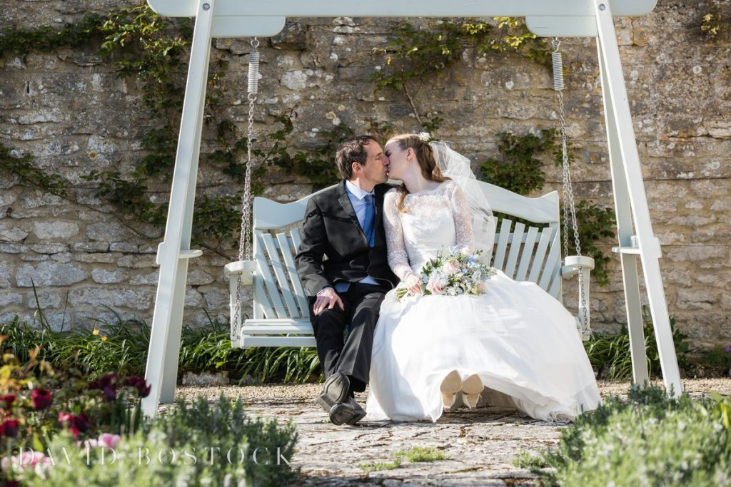 Caswell House Spring Wedding couple shot