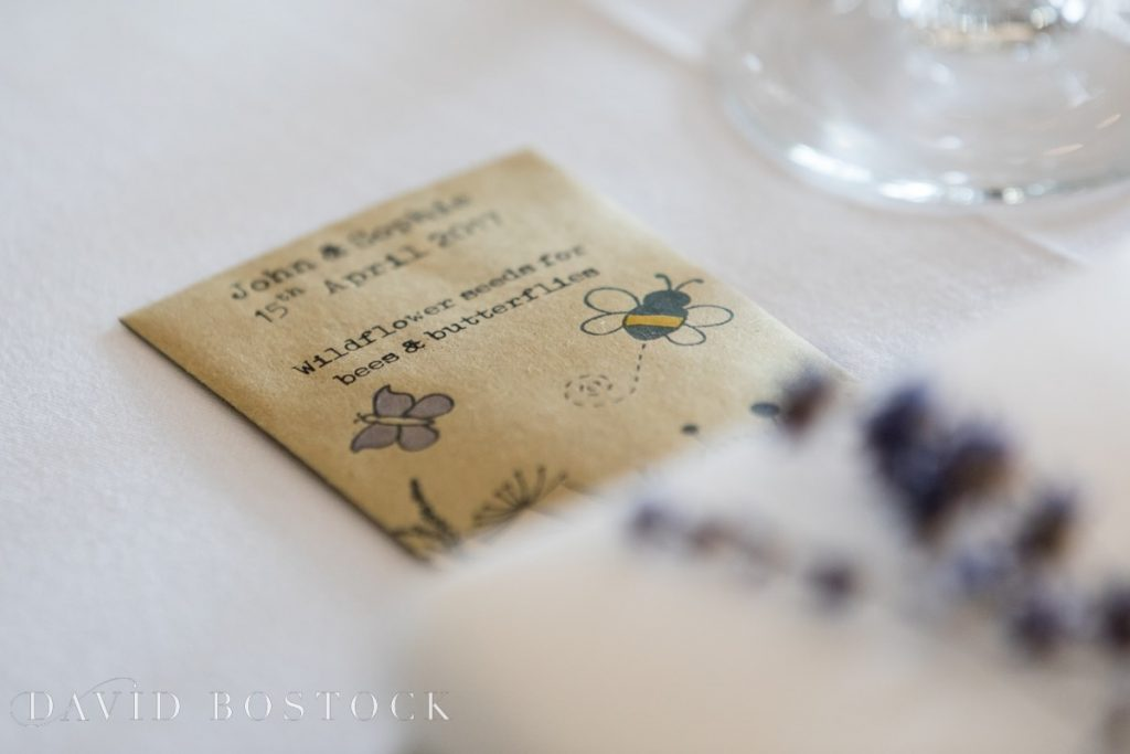 Caswell House Spring Wedding favours