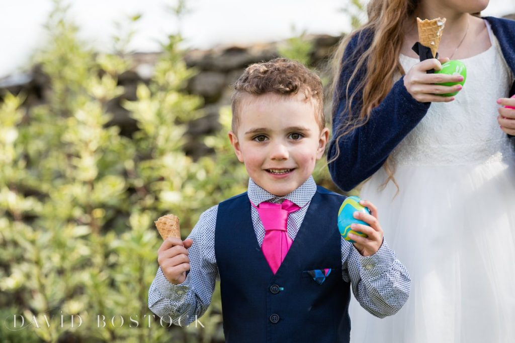 Caswell House Spring Wedding ice cream