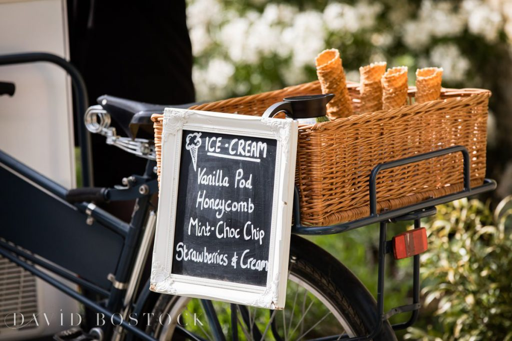 Caswell House Spring Wedding ice cream cones