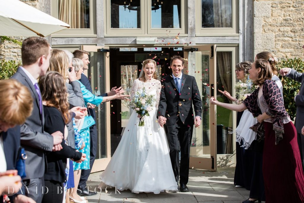 Caswell House Spring Wedding confetti shot