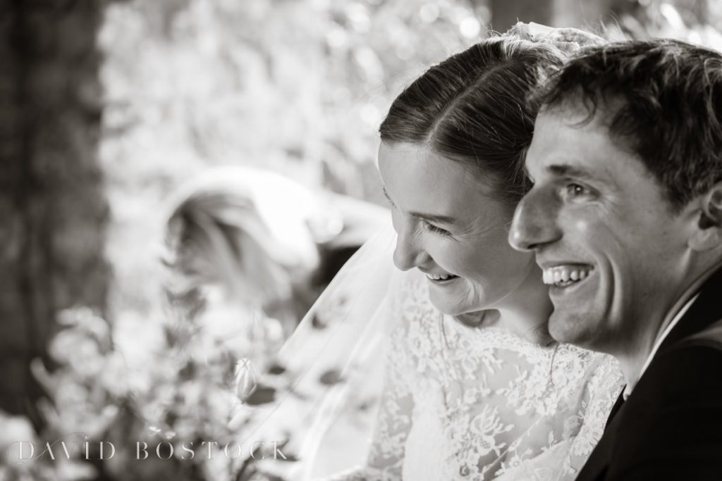 Caswell House Spring Wedding couple laughing