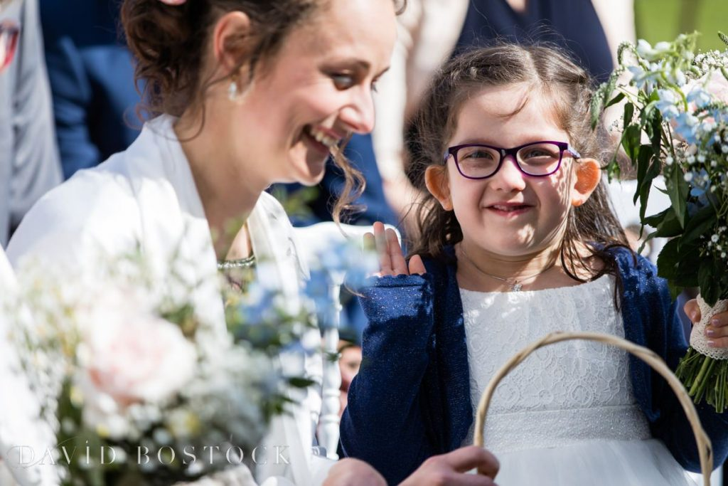 Caswell House Spring Wedding flower girl