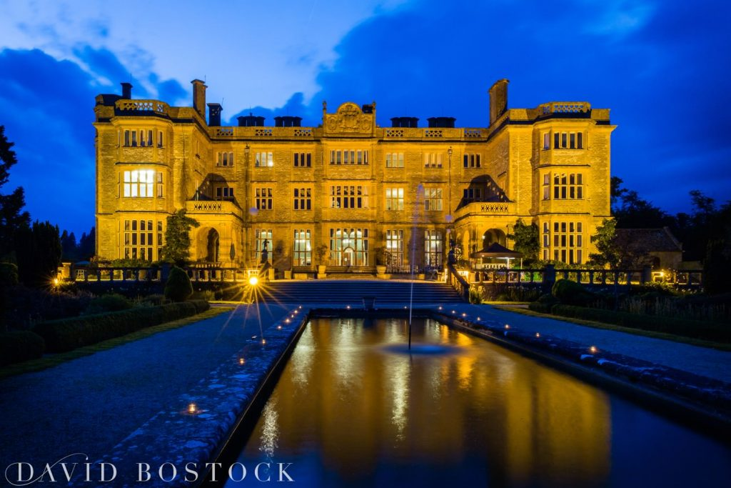 Eynsham Hall Wedding at night