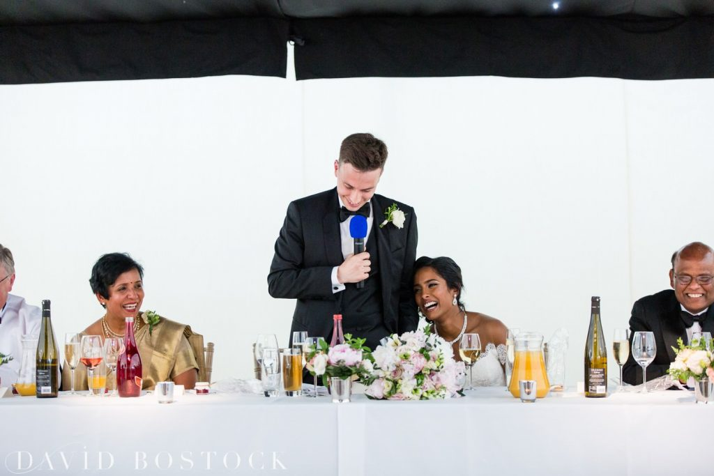 Eynsham Hall Wedding grooms speeches
