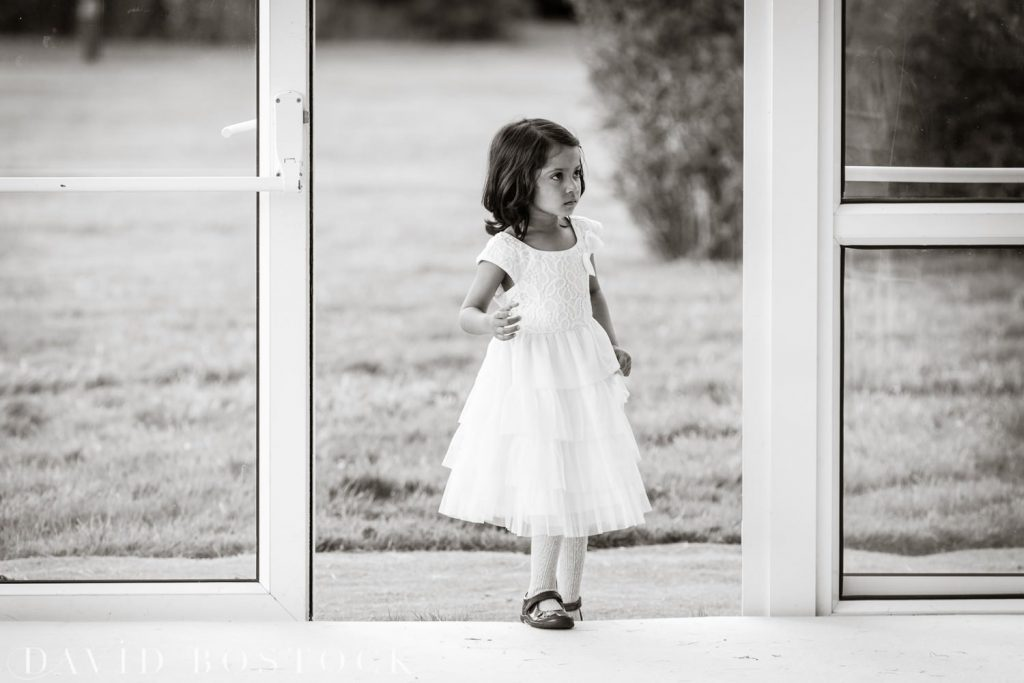 Eynsham Hall Wedding flower girl
