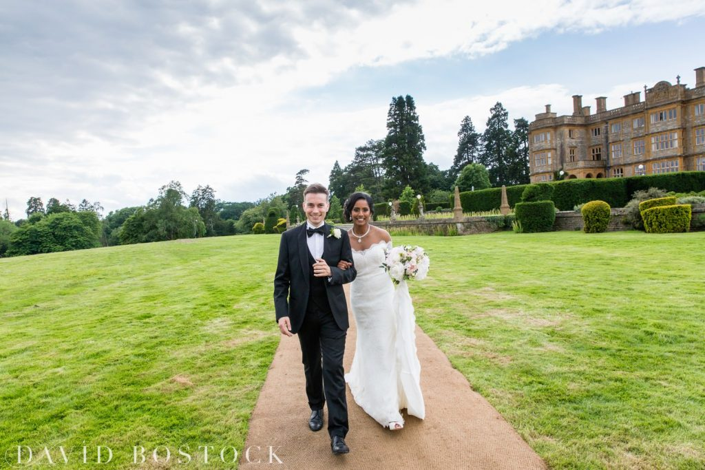 Eynsham Hall Wedding bride and groom