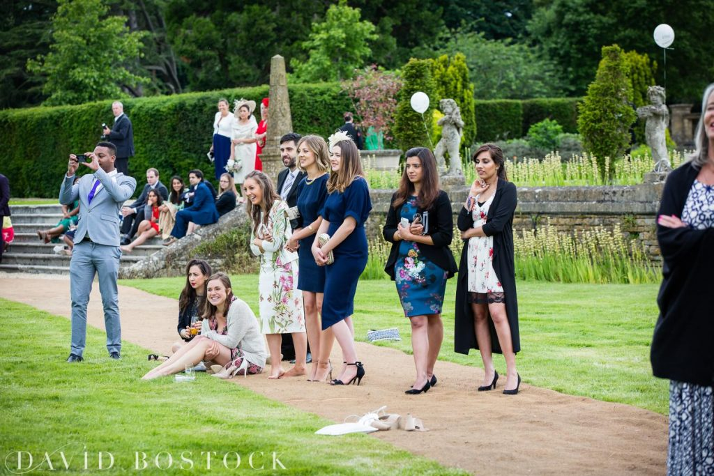 Eynsham Hall Wedding guests at receptions