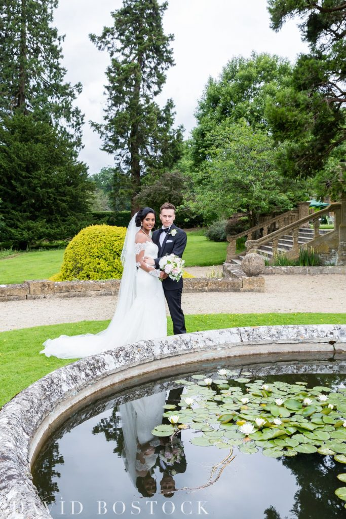 Eynsham Hall Wedding couple shots in grounds