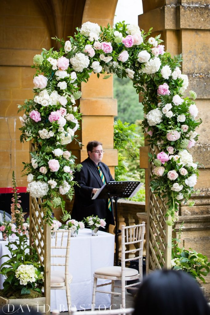 Eynsham Hall Wedding flower arch