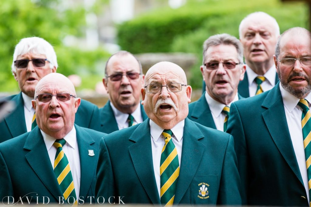 Eynsham Hall Wedding male voice choir