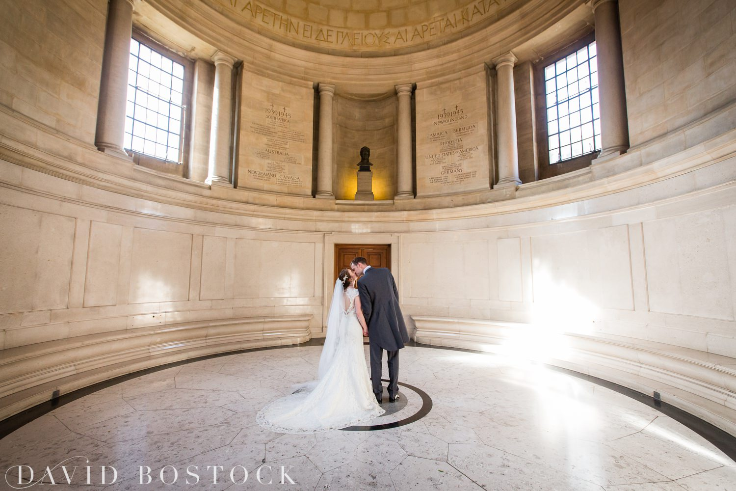 Oxford College Wedding couple at rhodes house