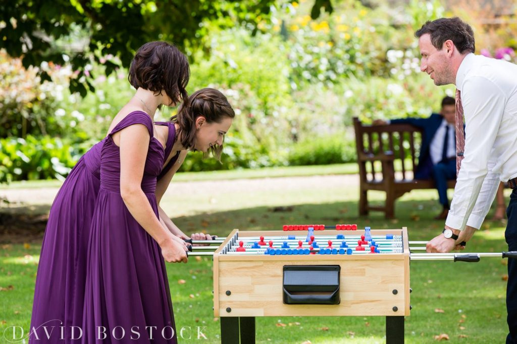 Oxford College Wedding table football