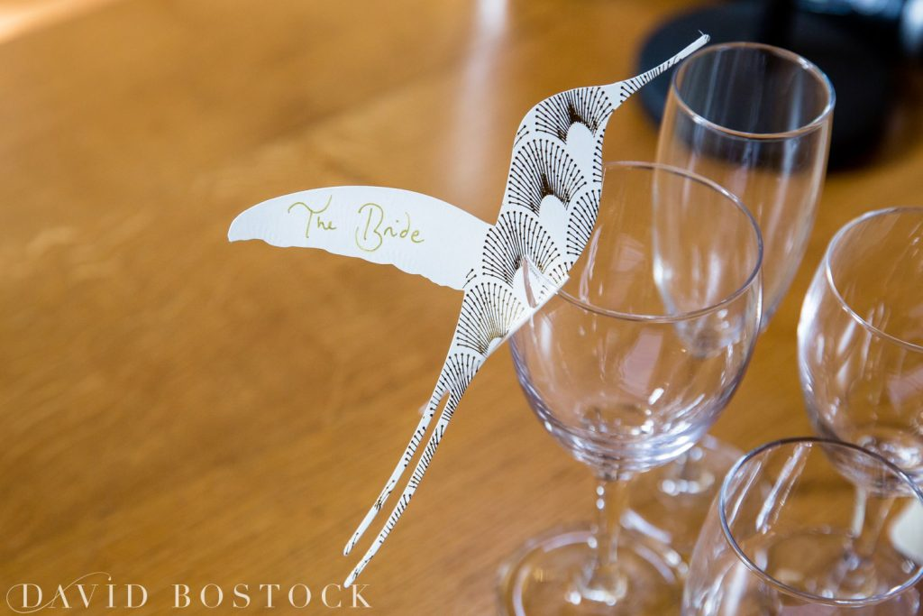 Oxford College Wedding place cards