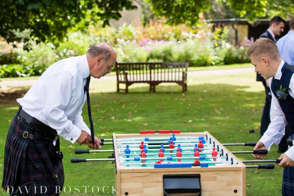 Oxford College Wedding garden games