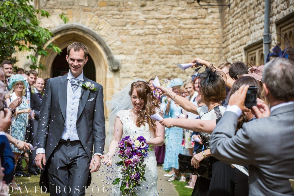 Oxford College Wedding confetti shot