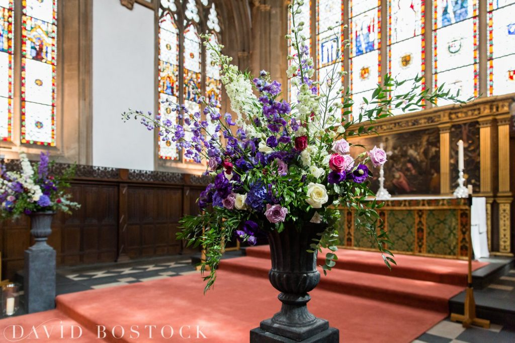 Oxford College Wedding church flowers