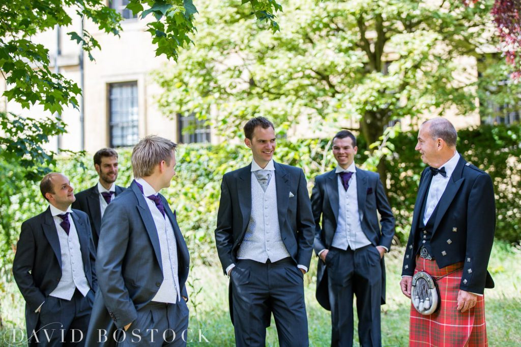 Oxford College Wedding groomsmen