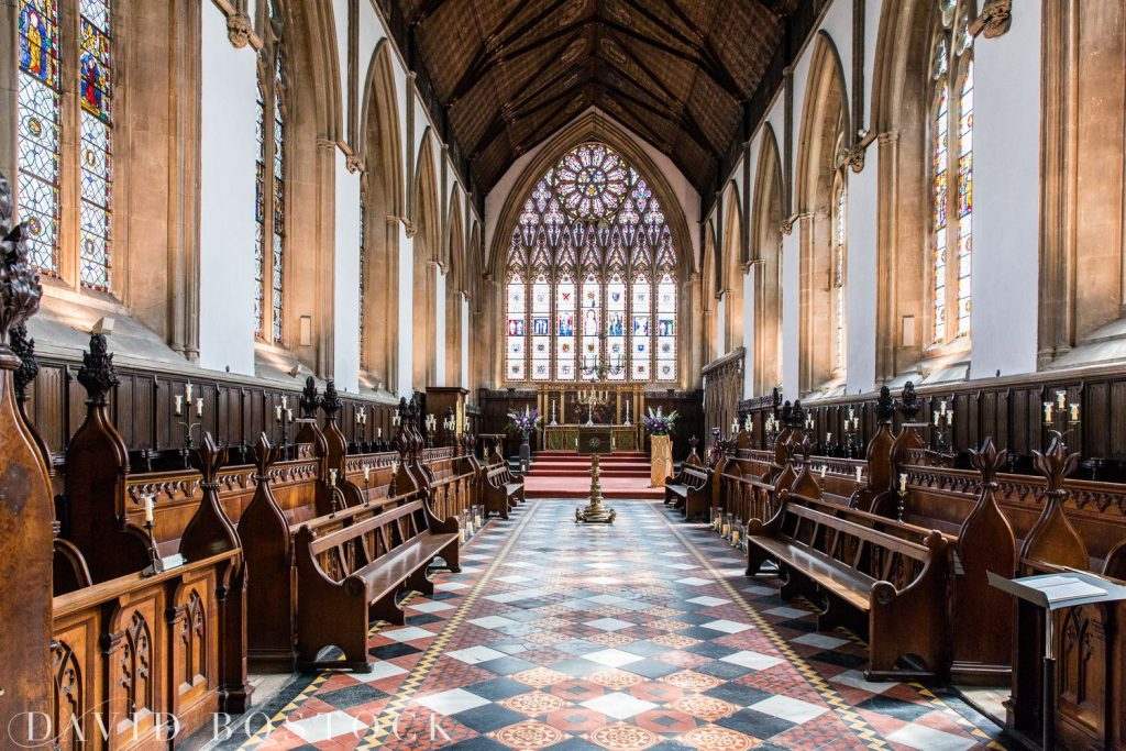 Oxford College Wedding Merton college chapel
