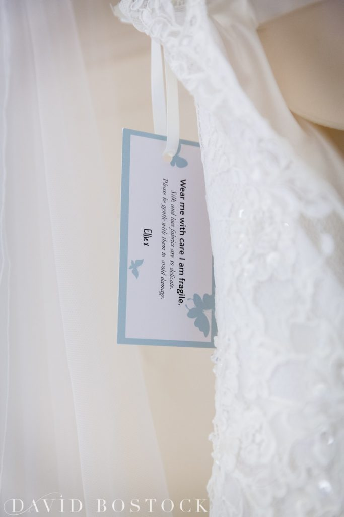 Oxford College Wedding dress label