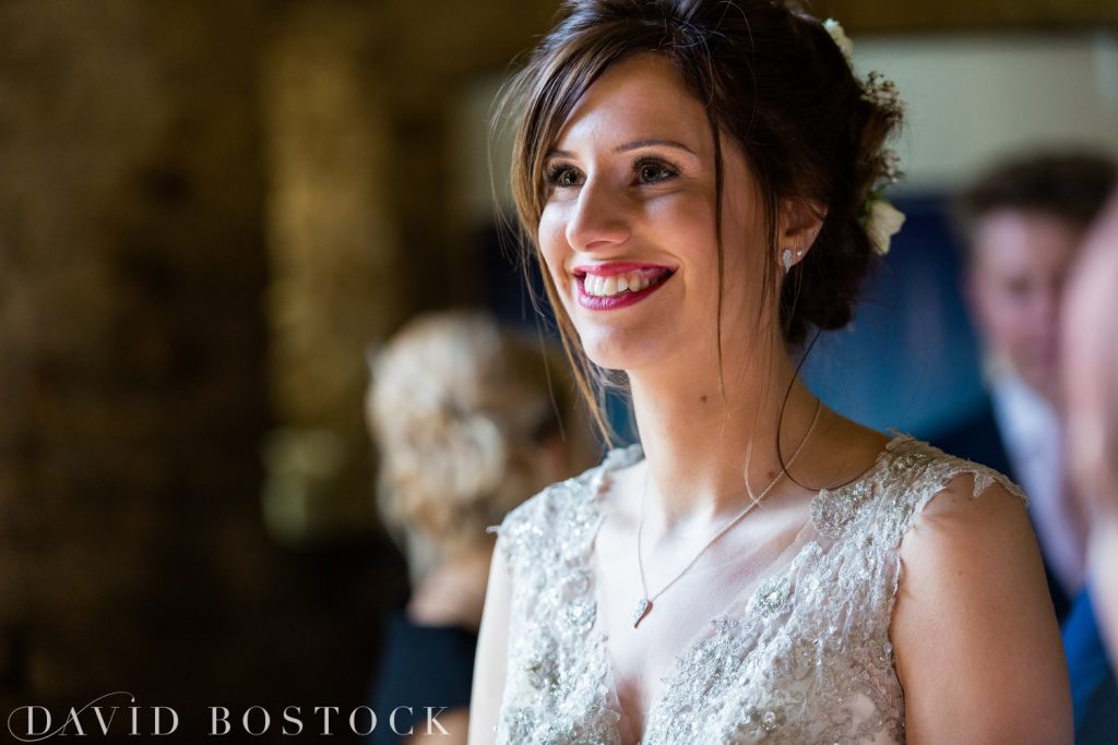 The Great Barn Aynho Wedding Photographs bride close up